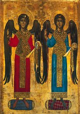 12th century icon of the Archangels Michael and Gabriel (Saint Catherine's Monastery, Mount Sinai)